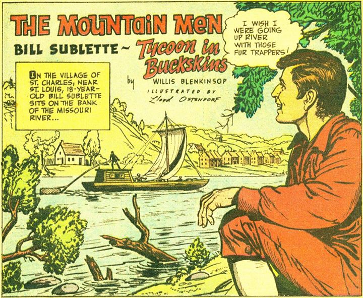 Comic Strip: Bill Sublette, Tycoon in Buckskins